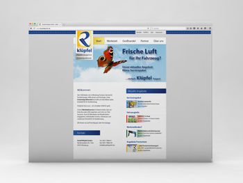 Website www.kluepfelgmbh.de